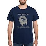 Let Jesus Be Your Belayer Dark T-Shirt