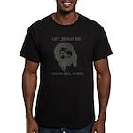 Let Jesus Be Your Bela Men's Fitted T-Shirt (dark)