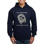 Let Jesus Be Your Belayer Hoodie (dark)