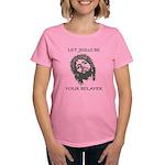 Let Jesus Be Your Belayer Women's Dark T-Shirt