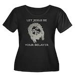 Let Jesu Women's Plus Size Scoop Neck Dark T-Shirt