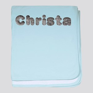 Christa Wolf baby blanket
