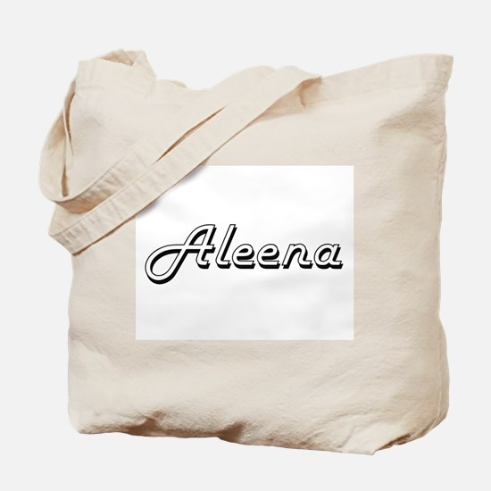 Aleena Classic Retro Name Design Tote Bag
