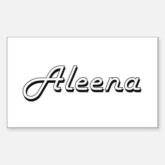 Aleena Classic Retro Name Design Decal