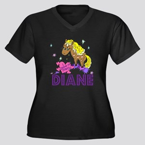 I Dream Of Ponies Diane Women's Plus Size V-Neck D
