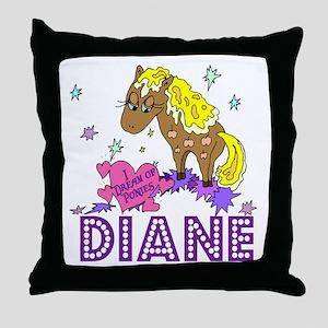 I Dream Of Ponies Diane Throw Pillow