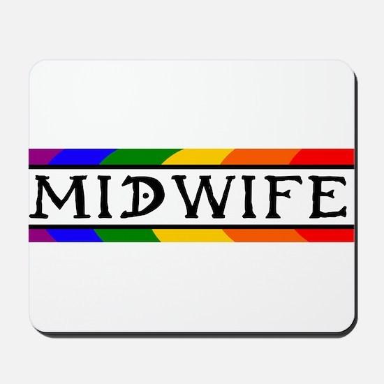 Rainbow Midwife Mousepad