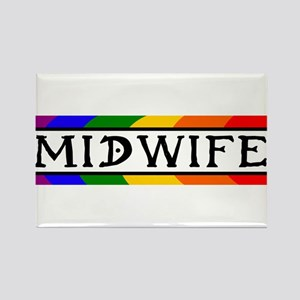 Rainbow Midwife Rectangle Magnet