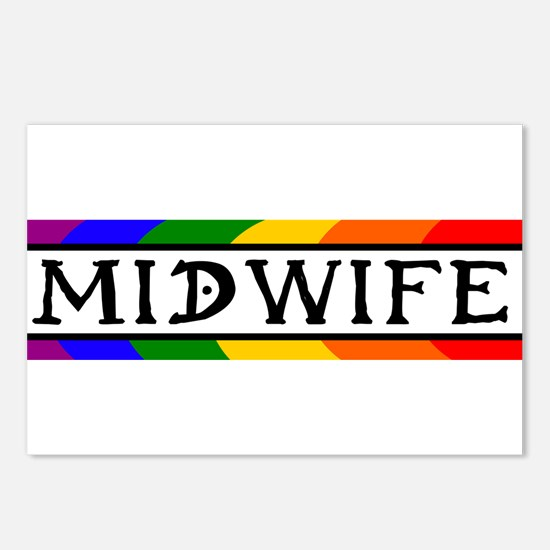 Rainbow Midwife Postcards (Package of 8)