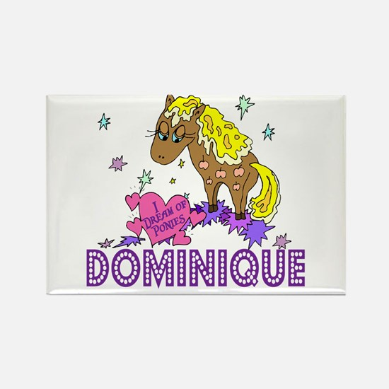 I Dream Of Ponies Dominique Rectangle Magnet