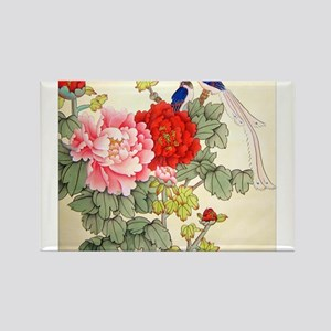 Chinese Water Color Painting Rectangle Magnet