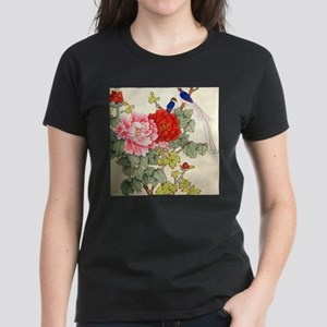 Chinese Water Color Painting Women's Dark T-Shirt