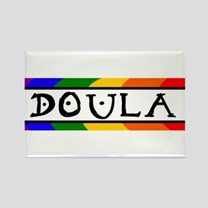 Doula Rainbow Rectangle Magnet