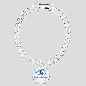 womens eye check Charm Bracelet, One Charm