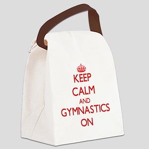 Keep Calm and Gymnastics ON Canvas Lunch Bag