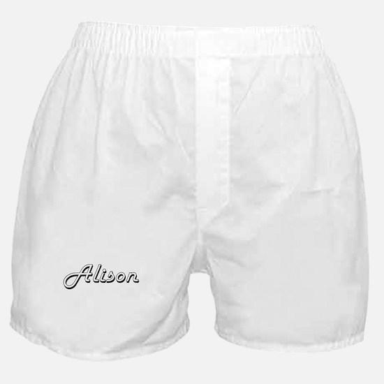 Alison Classic Retro Name Design Boxer Shorts