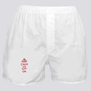 Keep Calm and Gyp ON Boxer Shorts