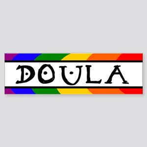 Doula Rainbow Bumper Sticker