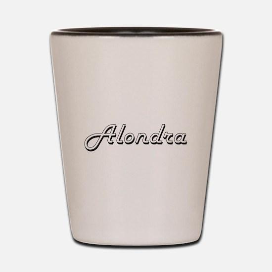 Alondra Classic Retro Name Design Shot Glass