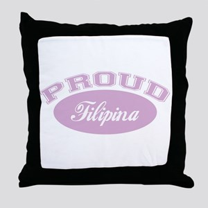 Proud Filipina Throw Pillow