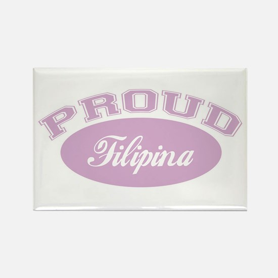 Proud Filipina Rectangle Magnet