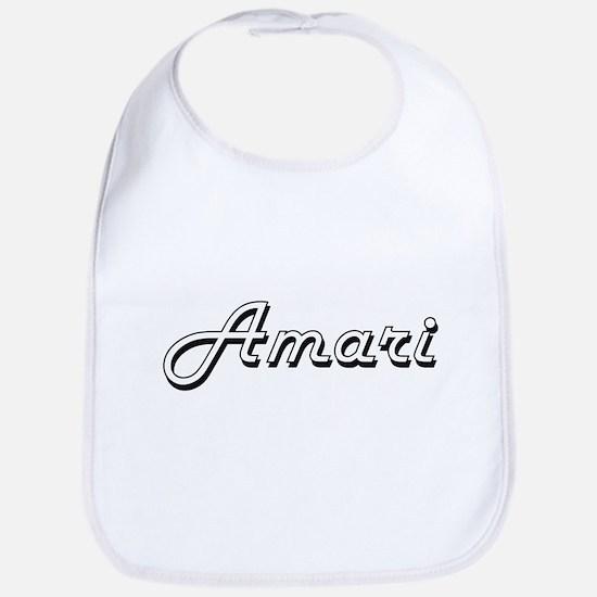 Amari Classic Retro Name Design Bib
