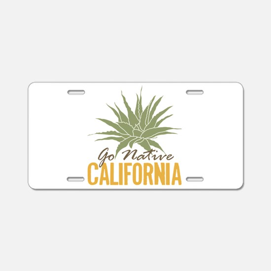Go Native California Aluminum License Plate