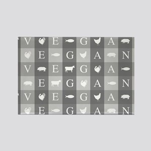 Vegan Animals Art Magnets