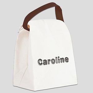 Caroline Wolf Canvas Lunch Bag