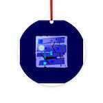 Egypt Blue Ornament (Round)