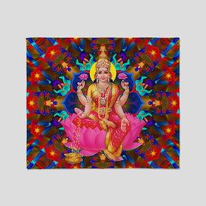 Daily Focus Mandala 4.2.15 Lakshmi Throw Blanket