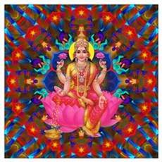 Daily Focus Mandala 4.2.15 Lakshmi Poster