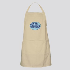 Snow Plow Truck Oval Etching Apron
