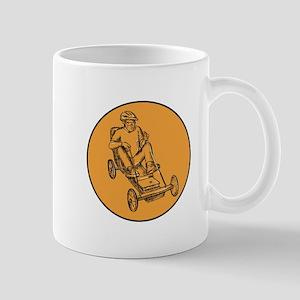 Rider Riding Soapbox Etching Mugs