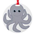 Octopus Gray Cartoon Ornament