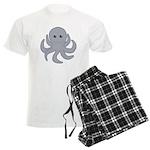 Octopus Gray Cartoon Pajamas