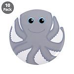 Octopus Gray Cartoon 3.5