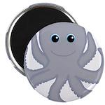 Octopus Gray Cartoon Magnets
