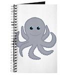 Octopus Gray Cartoon Journal