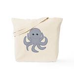 Octopus Gray Cartoon Tote Bag