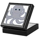 Octopus Gray Cartoon Keepsake Box