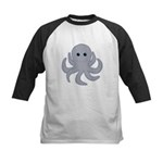 Octopus Gray Cartoon Baseball Jersey