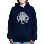Octopus Gray Cartoon Women's Hooded Sweatshirt