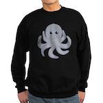 Octopus Gray Cartoon Sweatshirt