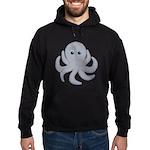 Octopus Gray Cartoon Hoodie