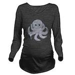 Octopus Gray Cartoon Long Sleeve Maternity T-Shirt