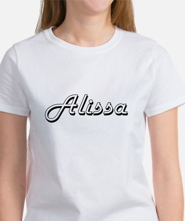 Alissa Classic Retro Name Design T-Shirt