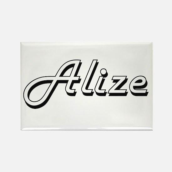 Alize Classic Retro Name Design Magnets
