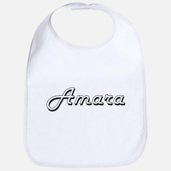 Amara Classic Retro Name Design Bib