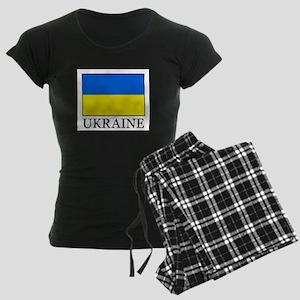 Ukraine Women's Dark Pajamas